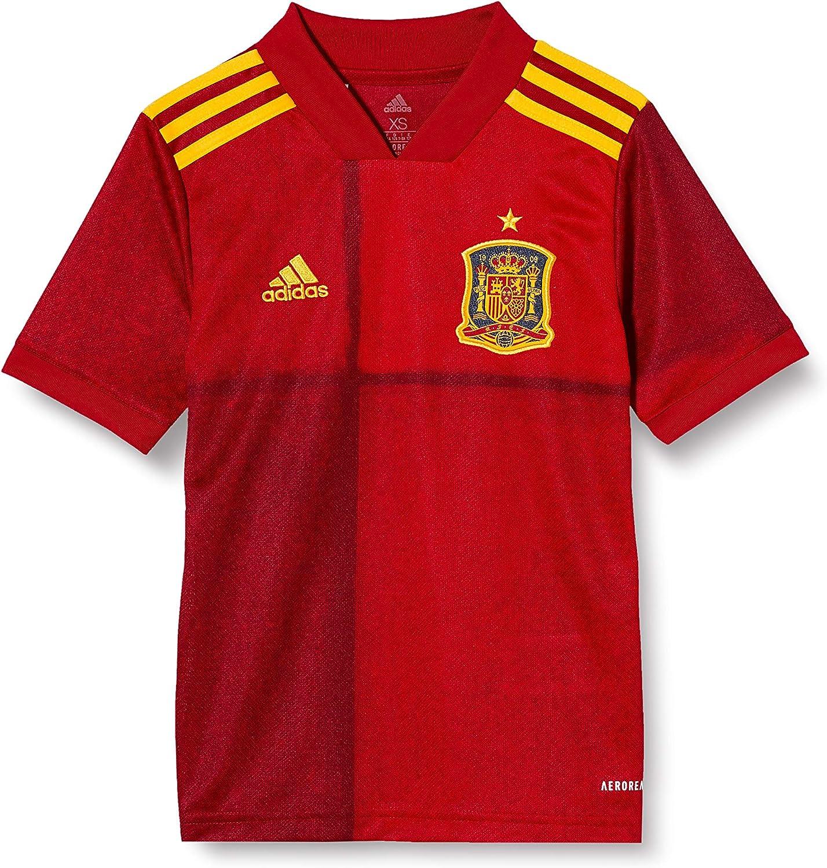 bestia exilio Pedir prestado  Amazon.com : adidas 2020-2021 Spain Home Football Soccer T-Shirt Jersey  (Kids) : Clothing
