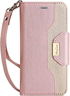 ProCase for iPhone SE 2020 / iPhone 7 / iPhone 8 Flip Case for Women Ladies Girls, Stylish Wallet Case with Card Holder Mi...