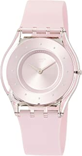 Swatch Skin Classic Pink Pastel Women's Silicone Strap Watch SFE111