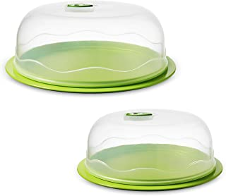 Ozeri Instavac Ready-Serve Domed Food Storage Container, Bpa-Free 4Piece Nesting Set with Vacuum Seal, Green