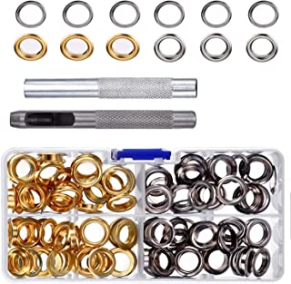Pangda Grommet Kit with 100 Set Grommets (3/ 8 Inch)