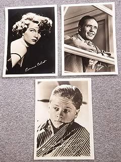(3) MOVIE STAR FAN PUBLICITY PHOTOS - MICKEY ROONEY MEL FERRER C CALVET SEPIA