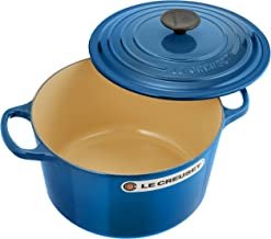 Le Creuset of America Cast Iron Cookware Round Dutch Oven, 5.25Qt, Marseille
