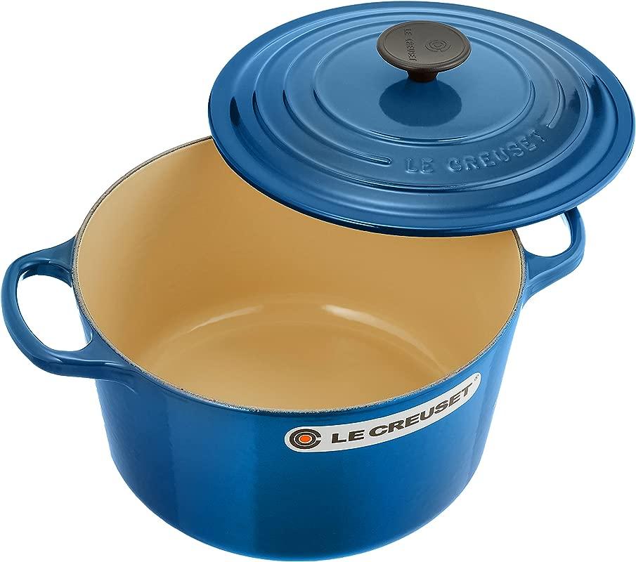 Le Creuset Of America Cast Iron Cookware Round Dutch Oven 5 25Qt Marseille