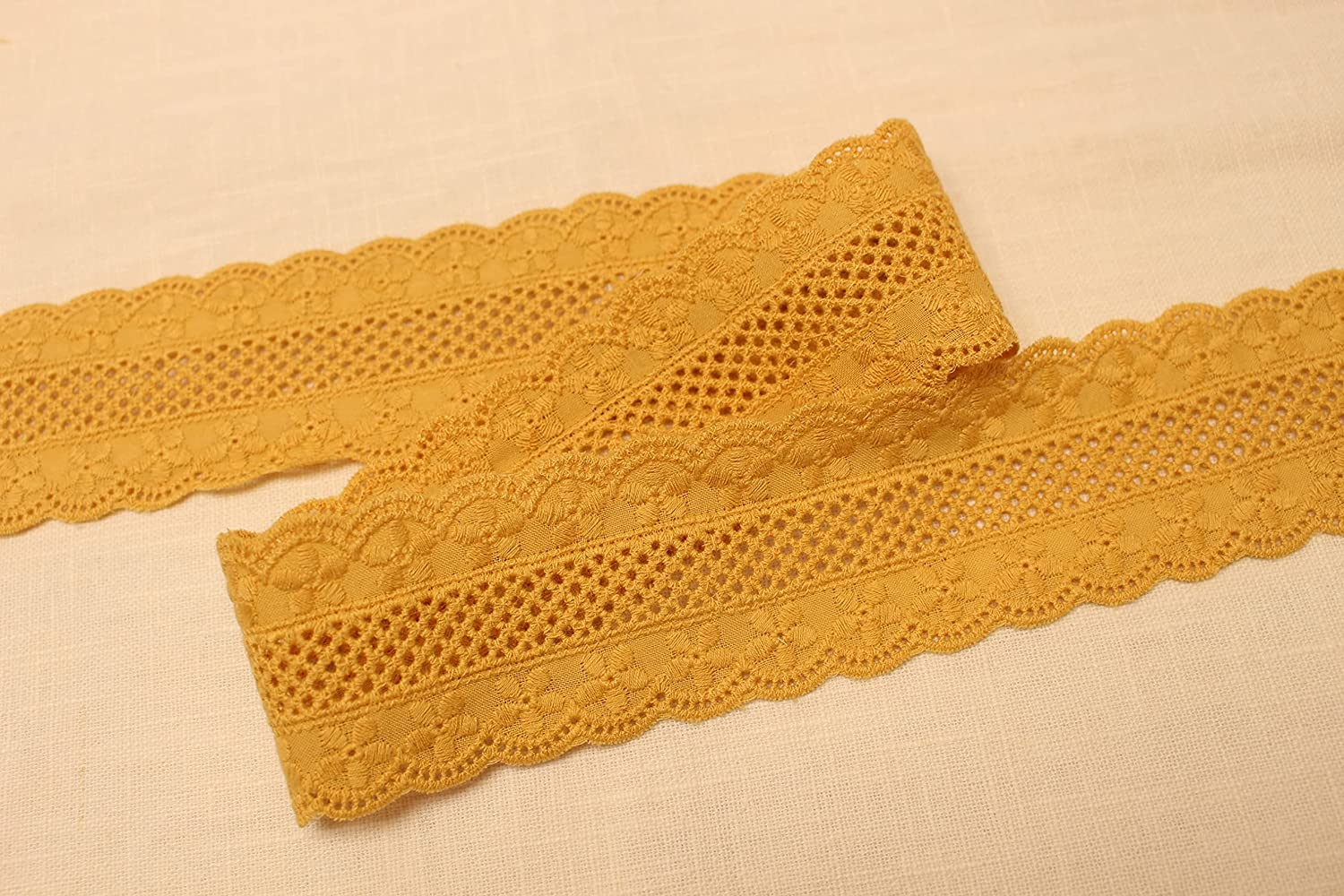 2 Yards Broderie All items in the store Anglaise Popular products Cotton lace Sided Double T Eyelet