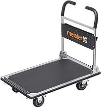 "Meister Platformwagen""cut-off"" - inklapbaar - tot 300 kg draagkracht - parkeerrem/transporthulp met zwenkwielen/pakketwage..."