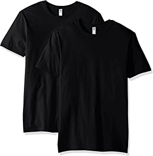 Fruit of the Loom Men's Crew T-Shirt (2 Pack), Black, Large