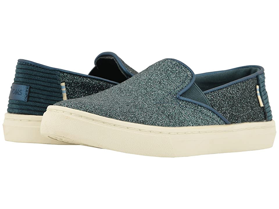 TOMS Kids Luca (Little Kid/Big Kid) (Atlantic Iridescent Glimmer/Corduroy) Girl