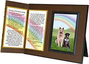 Pet Lover Remembrance Gift Rainbow Bridge Poem Pet Memorial Picture Frame Keepsake and Sympathy Gift Package