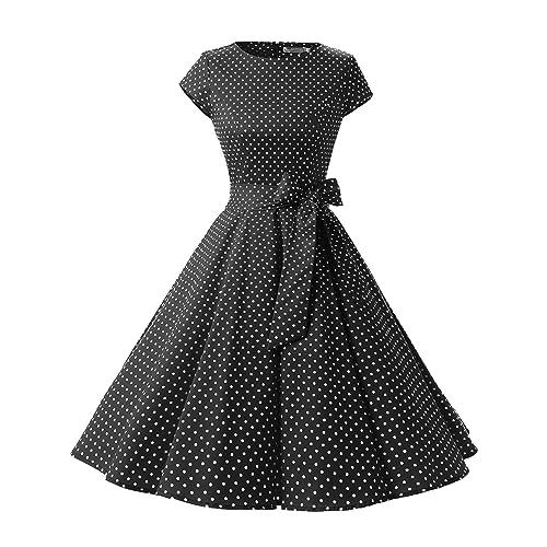 a4dbd822b34f1 Black and White Vintage Dress: Amazon.com