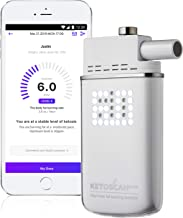[Upgraded V2] KETOSCAN Mini Breath Ketone Meter | Monitor Your Fat Metabolism or Level of Ketosis on Low carb, Ketogenic, Paleo Diet or Any Nutrition and Fitness Program