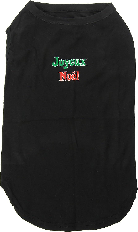 Dog   Cat   Pet Charms Joyeux Noel Screen Print Shirts Black XXXL(20)
