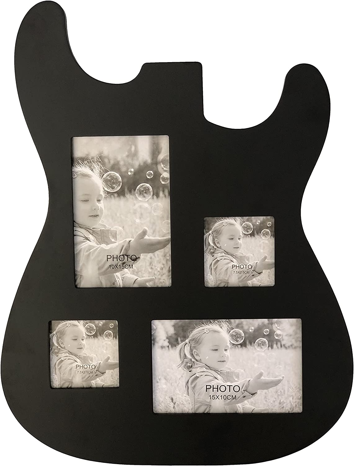 Guitar Body Shaped Music Picture Frame Surprise price 4x6 New popularity 3x4 B Photos for and