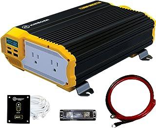KRIËGER 1100 Watt 12V Power Inverter Dual 110V AC Outlets, Installation Kit Included, Automotive Back Up Power Supply For ...
