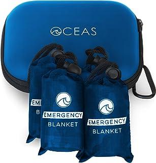 Oceas Outdoor Mylar Emergency Blankets - 4 Pack of Extra...