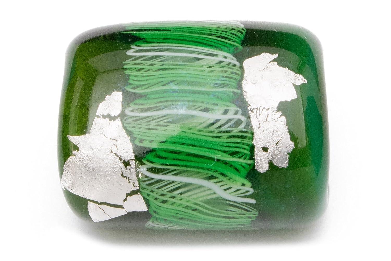 (ソウビエン) 帯留め 翠嵐工房 深緑色 ダークグリーン 銀色 シルバー うねり 縄目 蜻蛉玉 とんぼ玉 ガラス玉 カジュアル 帯どめ 和装小物 日本製