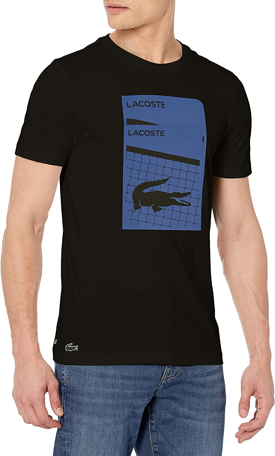Lacoste Ranking TOP18 Men's Sport Short Sleeve Croc Court on Graphic Jersey low-pricing Te
