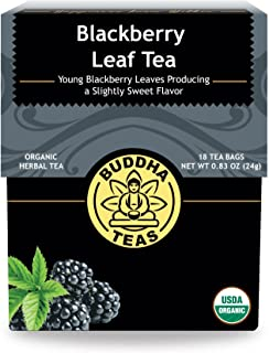 Organic Blackberry Leaf Tea - Kosher, Caffeine-Free, GMO-Free - 18 Bleach-Free Tea Bags