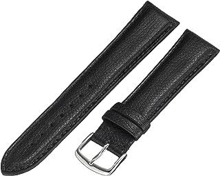 Hadley-Roma MS2045RA 160 16mm Leather Calfskin Black Watch Strap