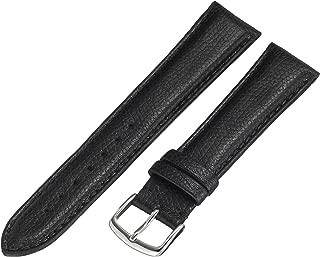 Hadley-Roma MS2045RA 200 20mm Leather Calfskin Black Watch Strap