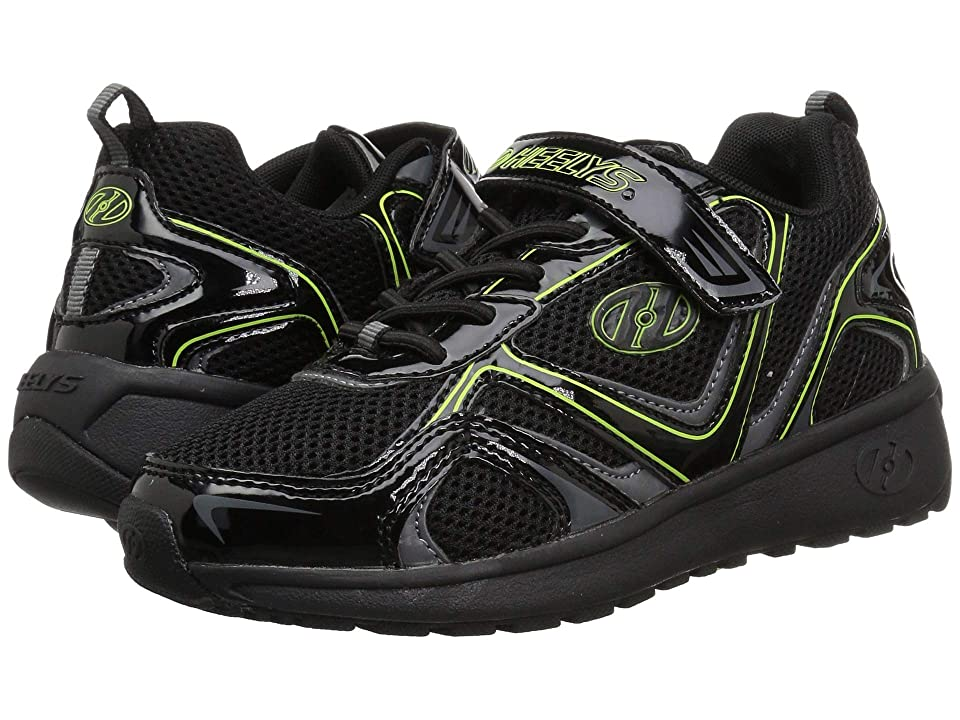 Heelys Rise x2 (Little Kid/Big Kid/Adult) (Black/Charcoal/Bright Yellow) Boys Shoes