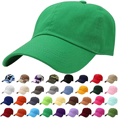 43aade9cbd2 Falari Classic Baseball Cap Dad Hat 100% Cotton Soft Adjustable Size
