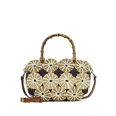 Patricia Nash Palmarola Satchel (Natural/White) Bags