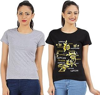 MODISH Women's Combo T Shirt (Pack of 2)