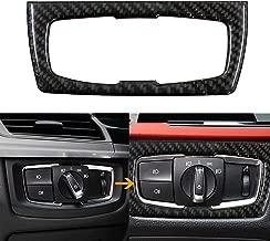 Headlight Switch Button Carbon Fiber Trim Frame Sticker Fit BMW 3 4 Series F30 30 32 33 80 83