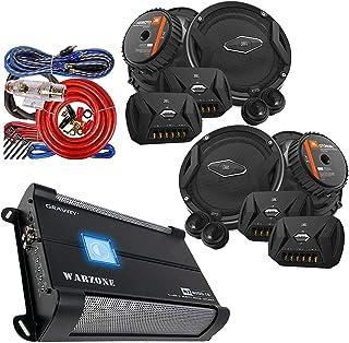 """$369 » Gravity WZ1000.4 1000Watts 4-Channel Car Audio Amplifier + Audiobank 4 Gauge Amp Kit + 4X JBL GTO 609C 6.5"""" -Inch 540 Watt..."""