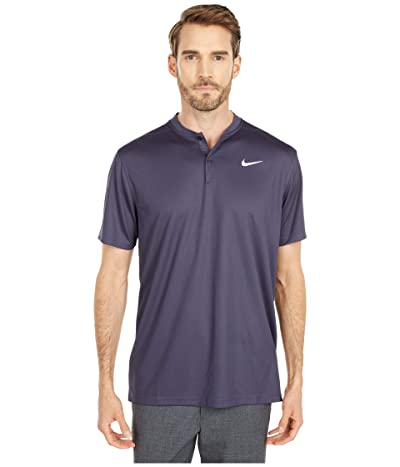 Nike Golf Dri-FITtm Victory Blade Polo (Gridiron/White) Men