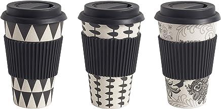 Preisvergleich für Nordal Bamboo Mug to go, Black/White, 3 Ass. [Set]