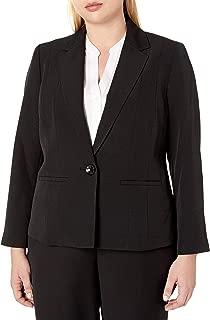 Women's Plus Size Stretch Crepe One Button Jacket