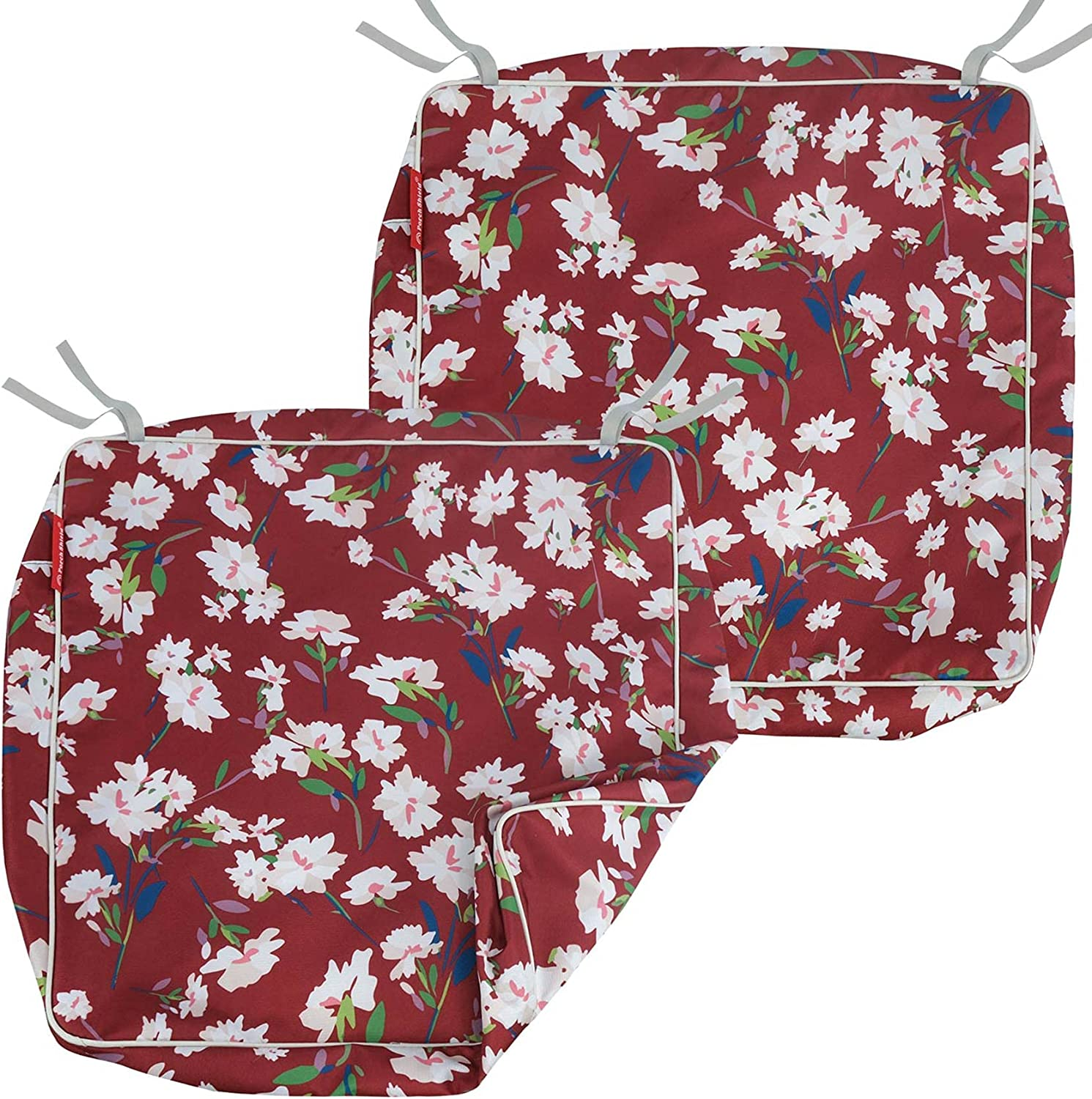Porch Shield Outdoor Seat Cushion Covers Set 2, Waterproof Fade Resistant Patio Chair Seat Cushion Slip Covers 19 X 19