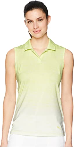 Gradient Sleeveless Polo