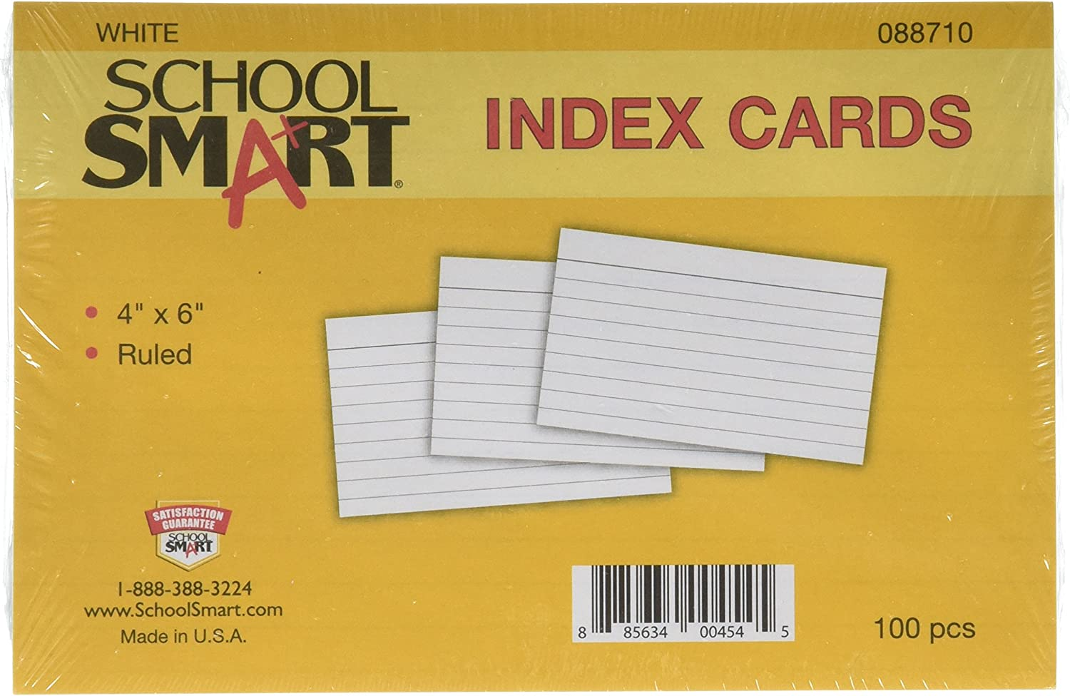 Large discharge sale School Smart Heavyweight Ruled Index Cards - New mail order x inches 6 Pack 4