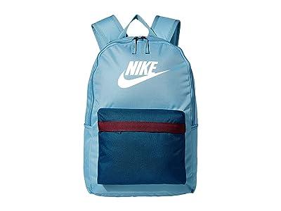 Nike Heritage Backpack 2.0 (Cerulean/Valerian Blue/White) Backpack Bags