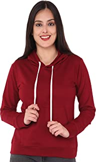 JUNEBERRY 100% Cotton Hooded Sweatshirt for Women/Girls