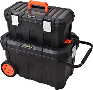 Tactix 2in1 Tool Box With Wheels  Black - TTX-320310