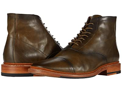 Frye Paul Lace-Up (Olive Antique Pull Up) Men