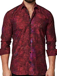Mens Designer Dress Shirt - Stylish & Trendy - Luxor Camo...