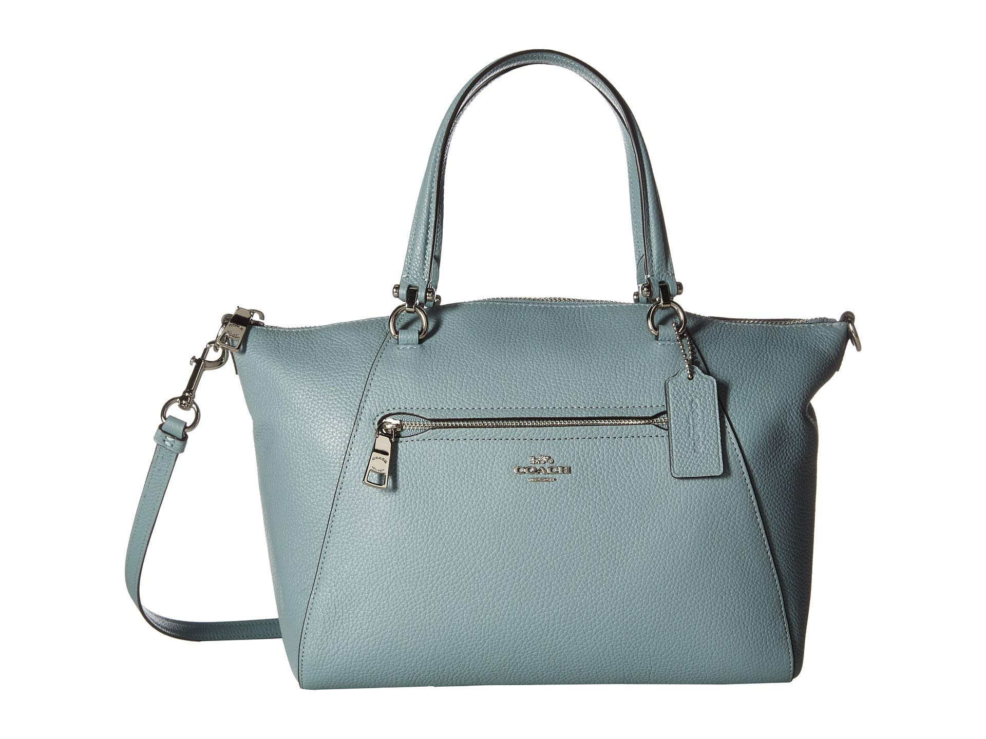 Coach Pebbled Satchel Prairie Silver Leather sage 464rBTw