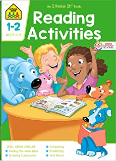 School Zone - Reading Activities Workbook - 64 Pages, Ages 6 to 8, 1st Grade, 2nd Grade, Comprehension, Comparing, Contras...