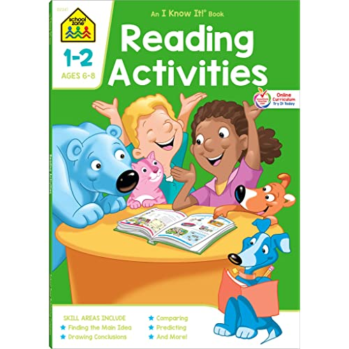 School Zone - Reading Activities Workbook - 64 Pages, Ages 6 to 8, 1st Grade, 2nd Grade, Comprehension, Comparing, Contrasting, Evaluating, and More (School Zone I Know It!® Workbook Series)