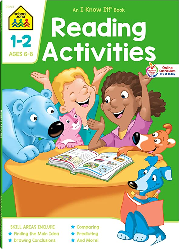 School Zone - Reading Activities 1-2 Workbook - 64 Pages, Ages 6 to 8, Grades 1 to 2, Comprehension, Comparing and Contrasting, Evaluating, ... (School Zone I Know It!? Workbook Series)