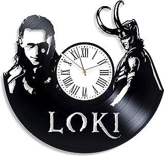 Kovides Loki Vinyl Clock Handmade Gift Wall Clock Exclusive Unique Decoration Marvel Comics Vintage Vinyl Record Clock Lok...