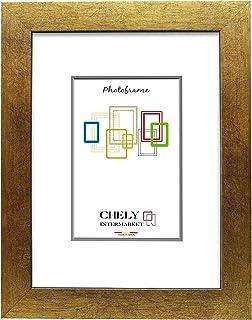 Chely Intermarket, Marco de Fotos Grande 50x70 cm (Dorado) Mod-230 | Estilo galería | Marco de Madera para Decoración de Casa | Fotografías de Boda | moldura con Relieve