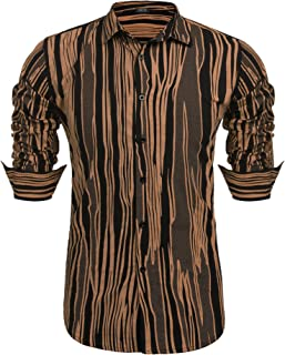 Men's Plaid Checkered Shirt Slim Fit Casual Long Sleeve Button Down Dress Shirts