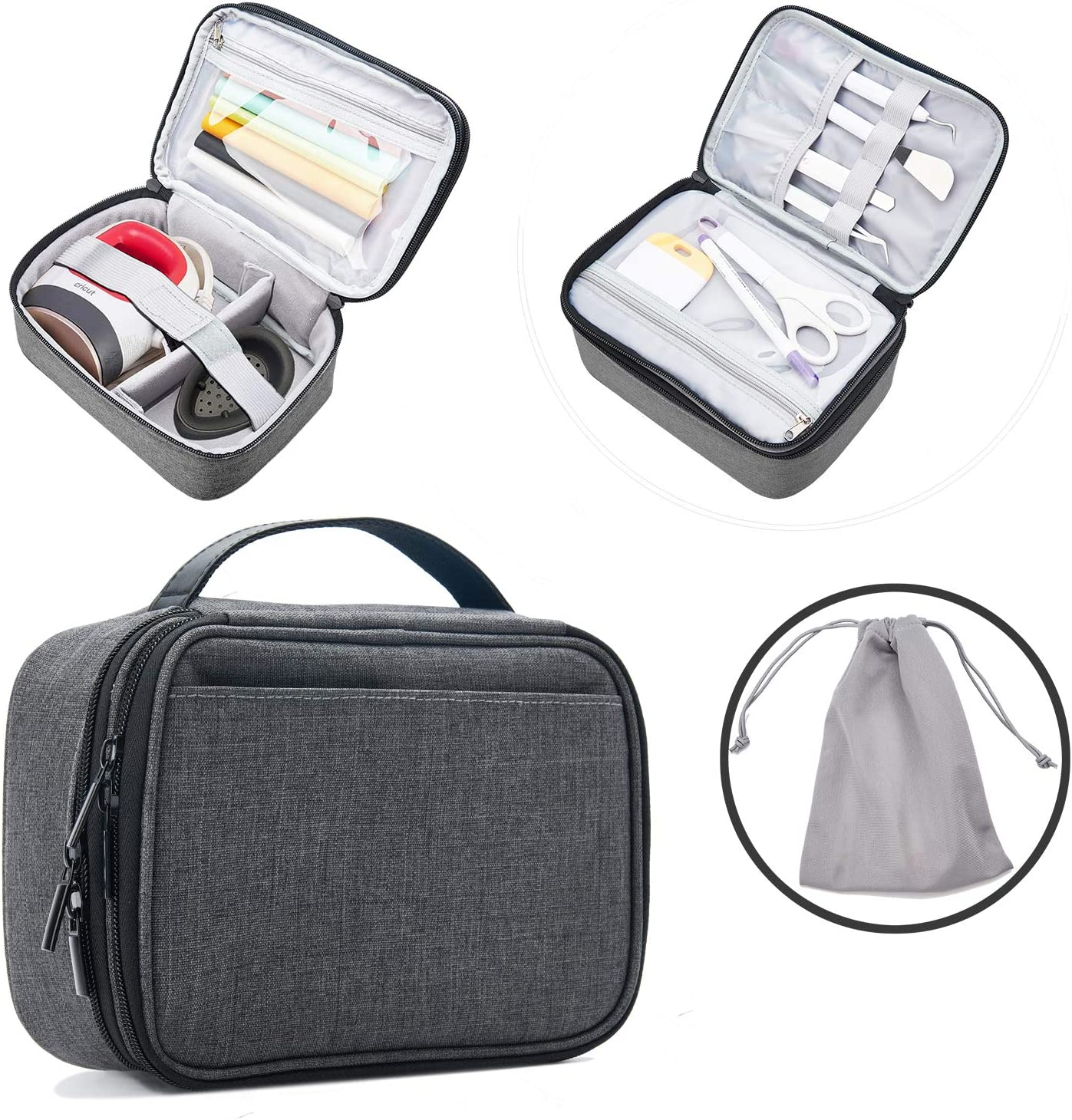 VOSDANS Carrying Case with Double Lowest price challenge Layer Popular brand Easy Mi for Cricut Press
