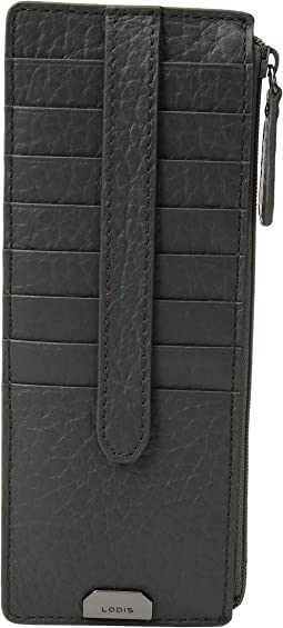 Lodis Accessories - Borrego RFID Under Lock & Key Credit Card Case with Zipper Pocket